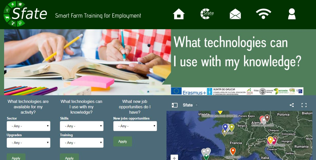 Training resources and job opportunities in new farming technologies